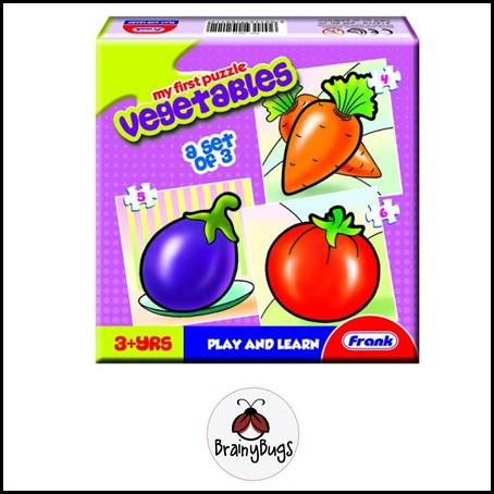 3 in 1 Puzzle - Vegetables