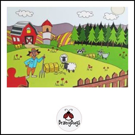Works on the Farm 48 piece Puzzle