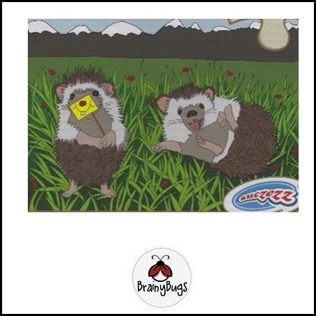 Humorous Hedgehogs 4 piece Puzzle