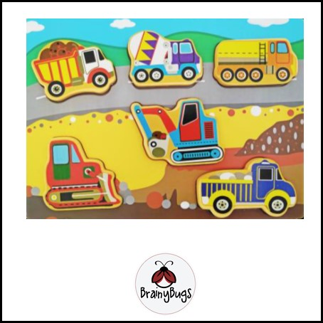 Construction Vehicles 6 piece Puzzle