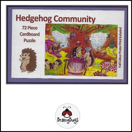 Hedgehog Community 72 piece Puzzle