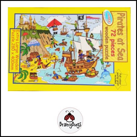 Pirates at Sea 72 piece Large Puzzle