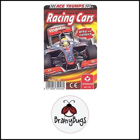 Ace Trump Cards - Racing Cars