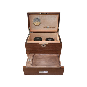 higher mentality's connoisseurs wooden stash box
