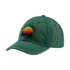 Life is Good Outdoor Sunwashed Cap (Forest Green)