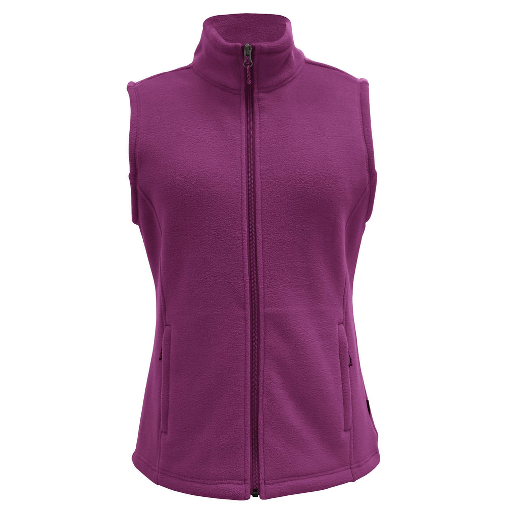 White Sierra Mountain Vest (Dark Purple)