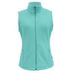 White Sierra Mountain Vest (Light Turquoise)
