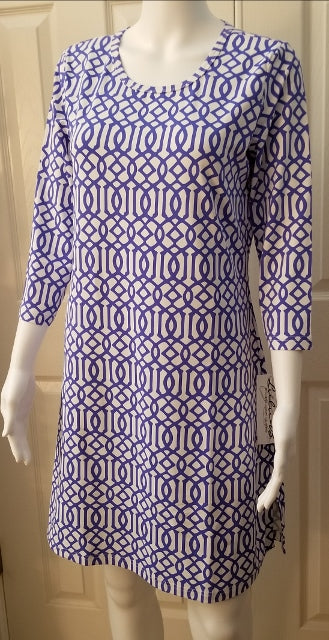 Lulu B Travel Dress Navy Print