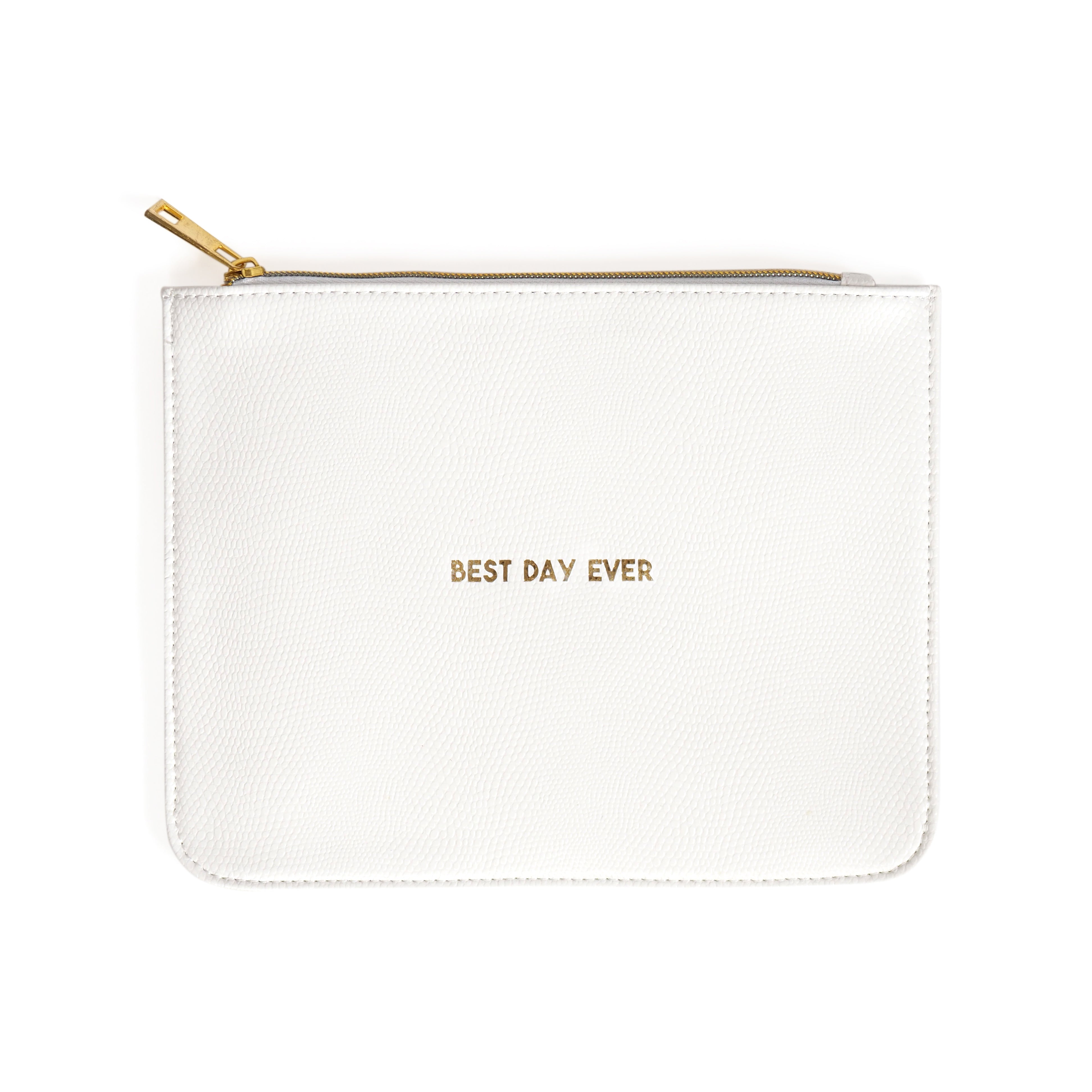 Best Day Ever Leatherette Clutch