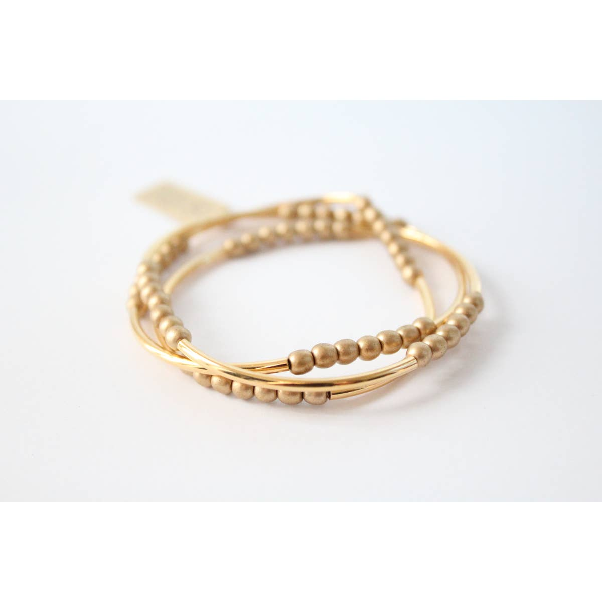 Triple Wrap Gold Bracelet