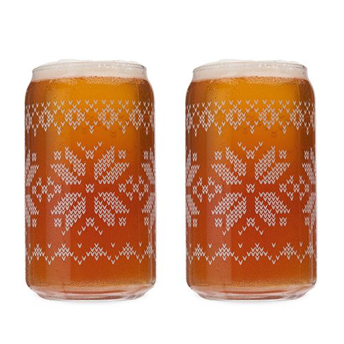 Nordic Knit Beer Glasses