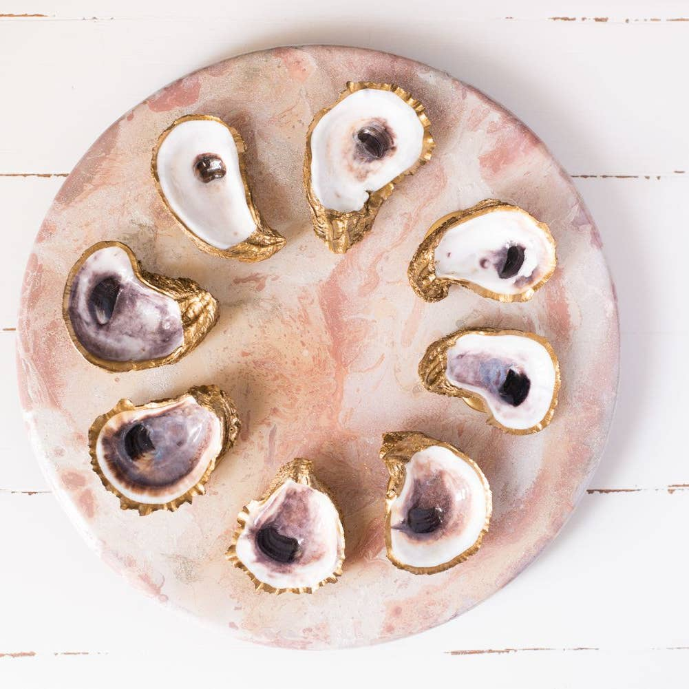 Golden Oyster Ring Dish