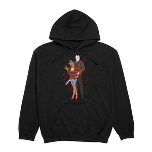 Thick Freddie Vs. Jason Hoodie - Black