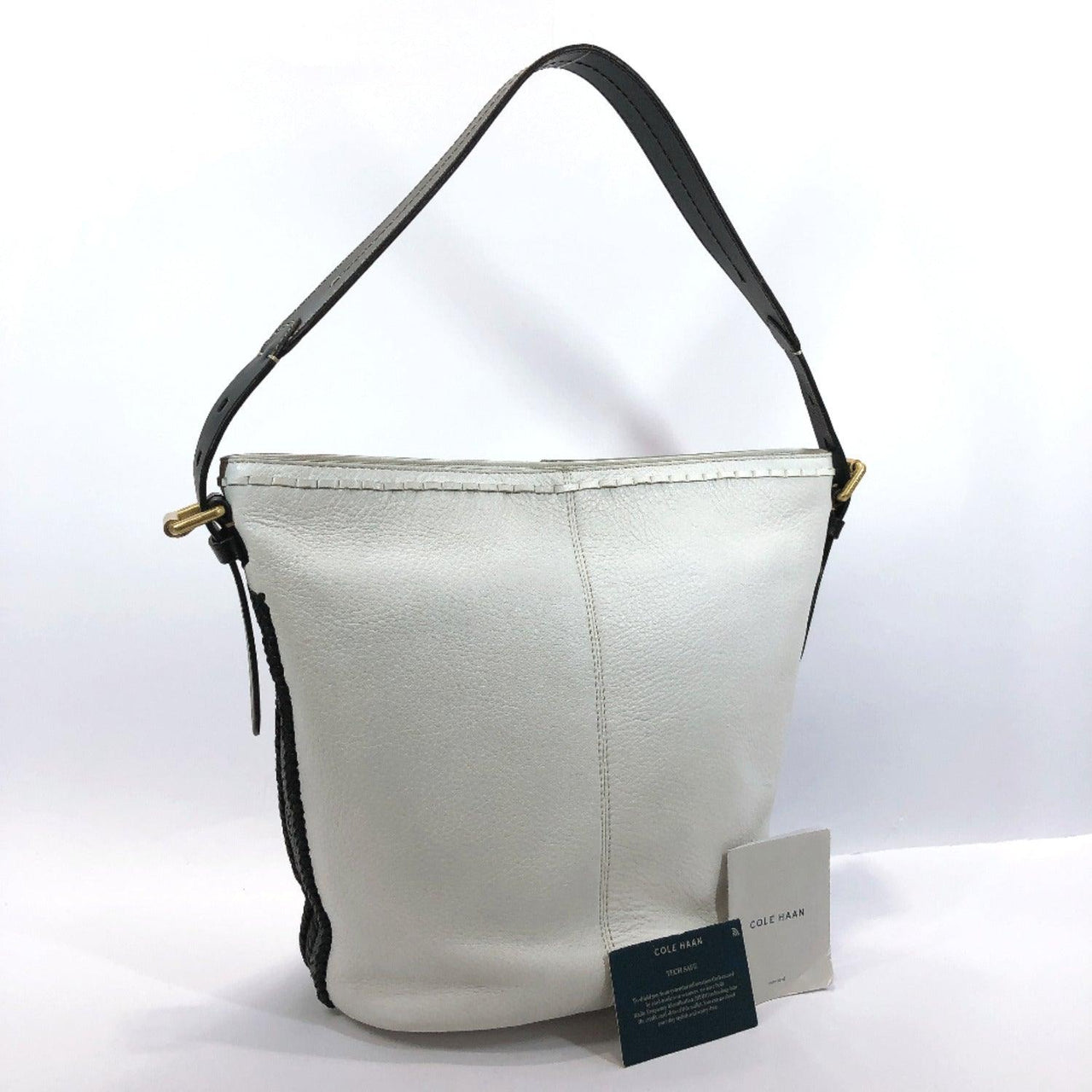 COLE HAAN Shoulder Bag leather white Women Used