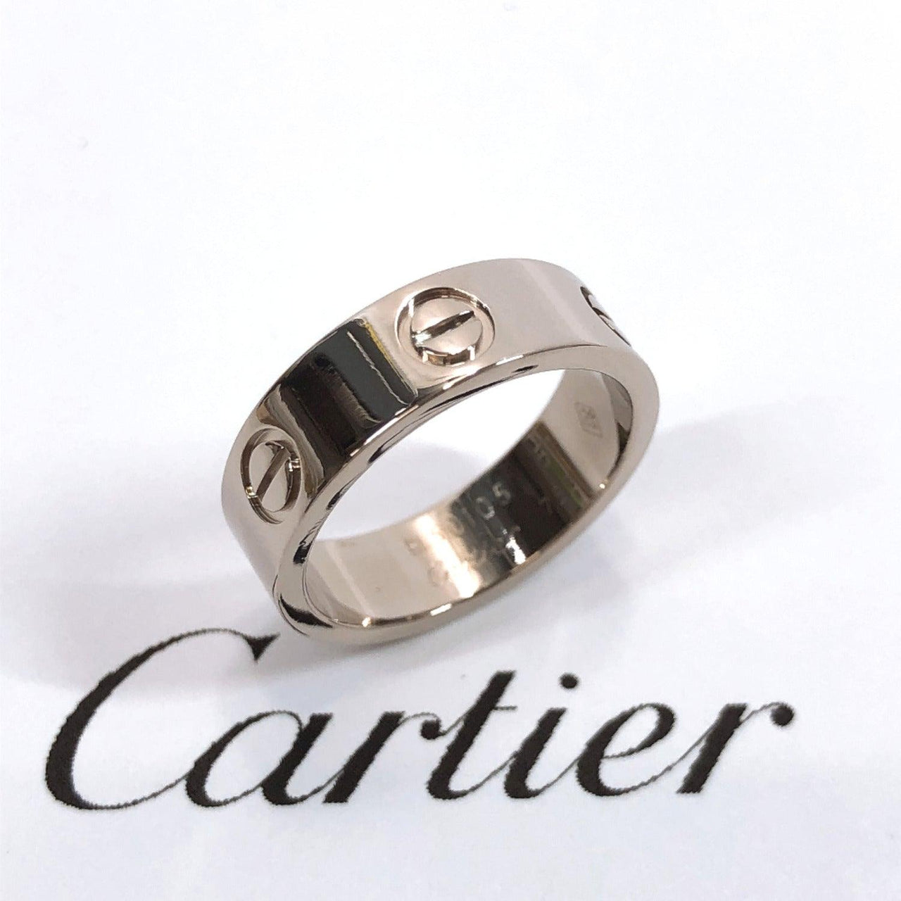 CARTIER Ring love ring K18 white gold 11 Silver Women Used