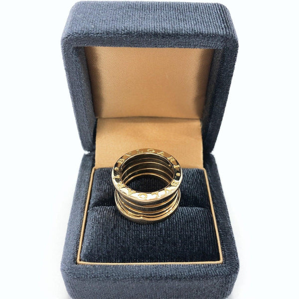 BVLGARI Ring B01 K18 yellow gold B gold Women Used
