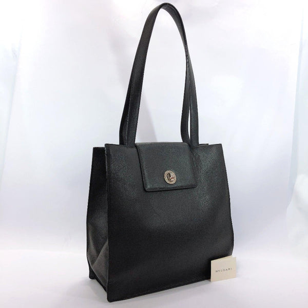 BVLGARI Tote Bag Bulgari Bulgari leather black unisex Used