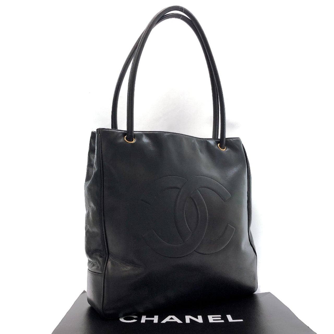 CHANEL Tote Bag COCO Mark leather black Women Used