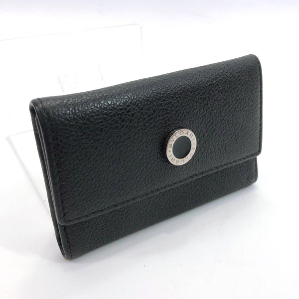 BVLGARI key holder Bulgari Bulgari leather black unisex Used
