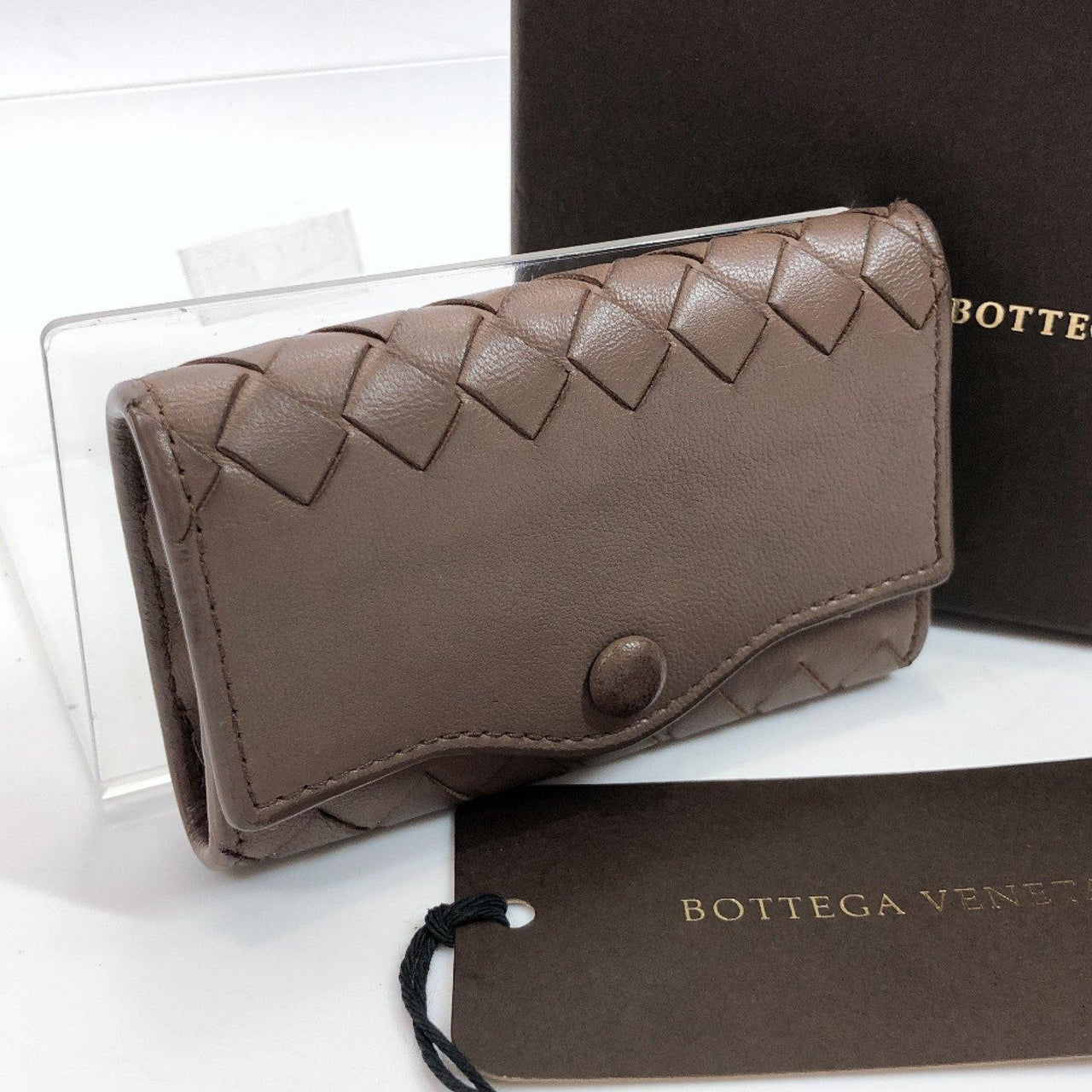 BOTTEGAVENETA key holder Intrecciato 5 hooks leather Brown Women Used