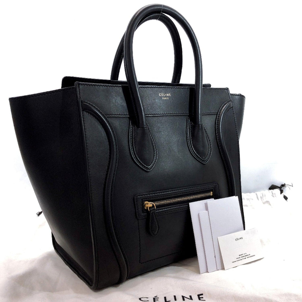 CELINE Handbag 165213HSC.38NO Mini shopper Luggage leather black Women Used