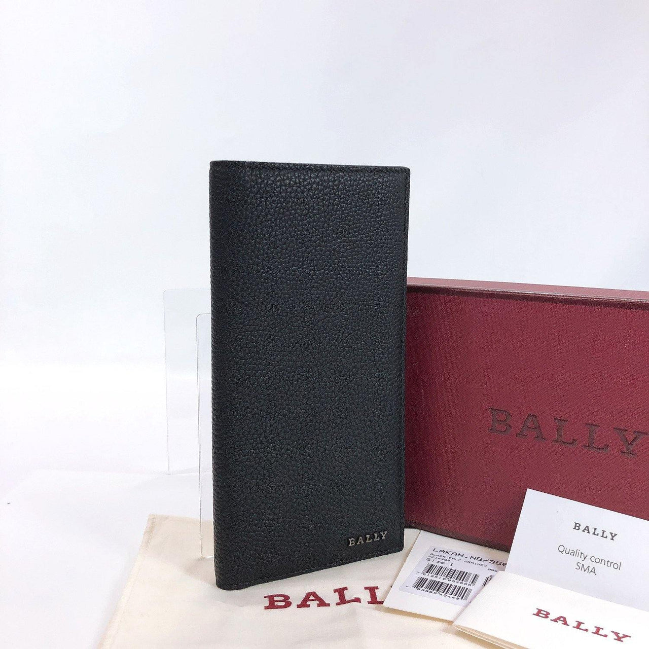 BALLY purse 6214489  Bill Compartment leather black mens New - JP-BRANDS.com