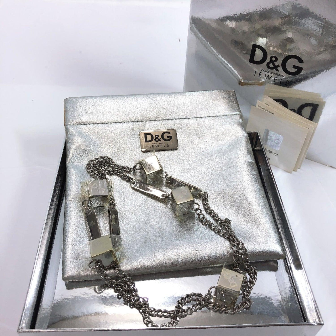 D&G Necklace metal Silver Women New