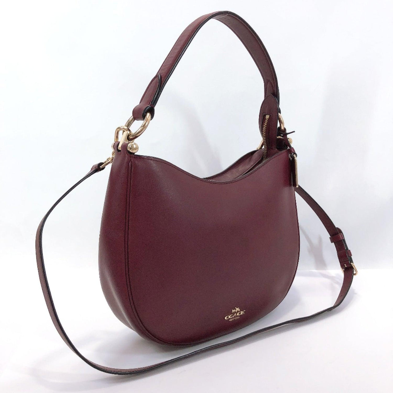 COACH Shoulder Bag 54446 2way Nomad Crossbody leather wine-red Women Used