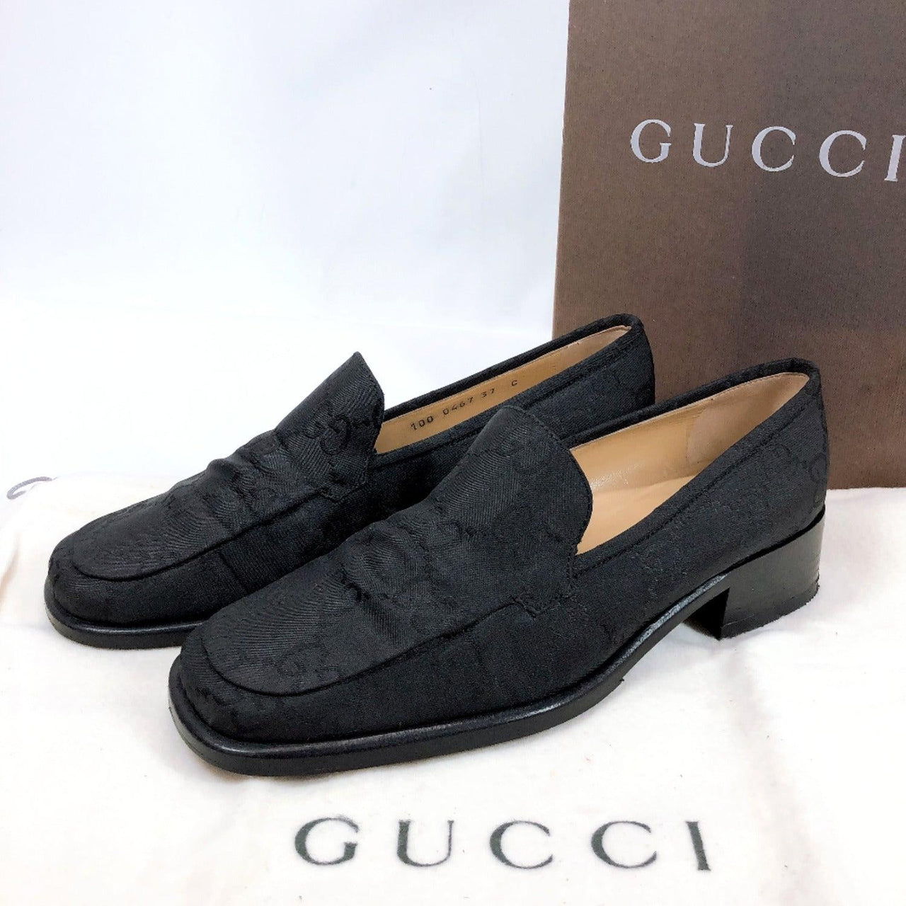GUCCI loafers Nylon black Women Used