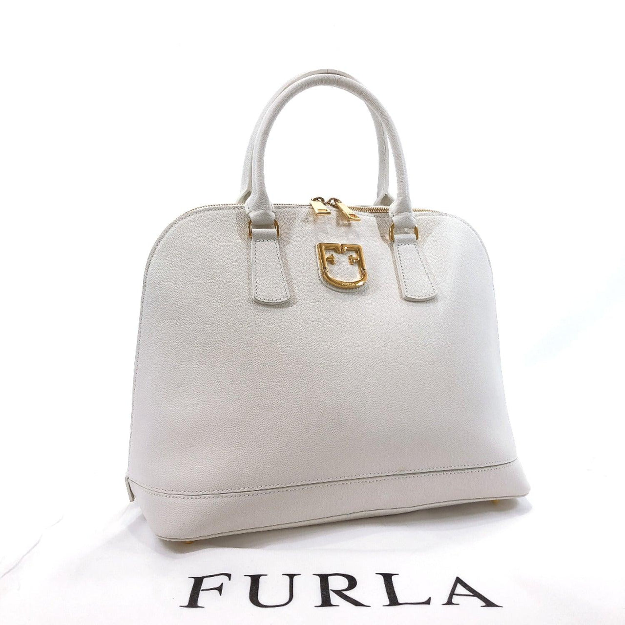 Furla Handbag 286247 leather white Women Used
