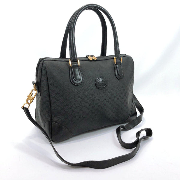 GUCCI Handbag vintage 2way GG Supreme Canvas black Women Used