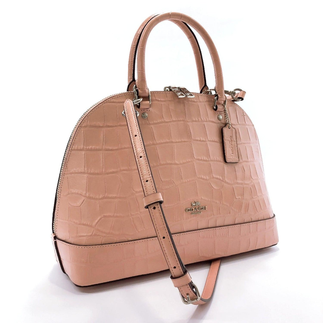 COACH Handbag F38954 leather pink Women Used