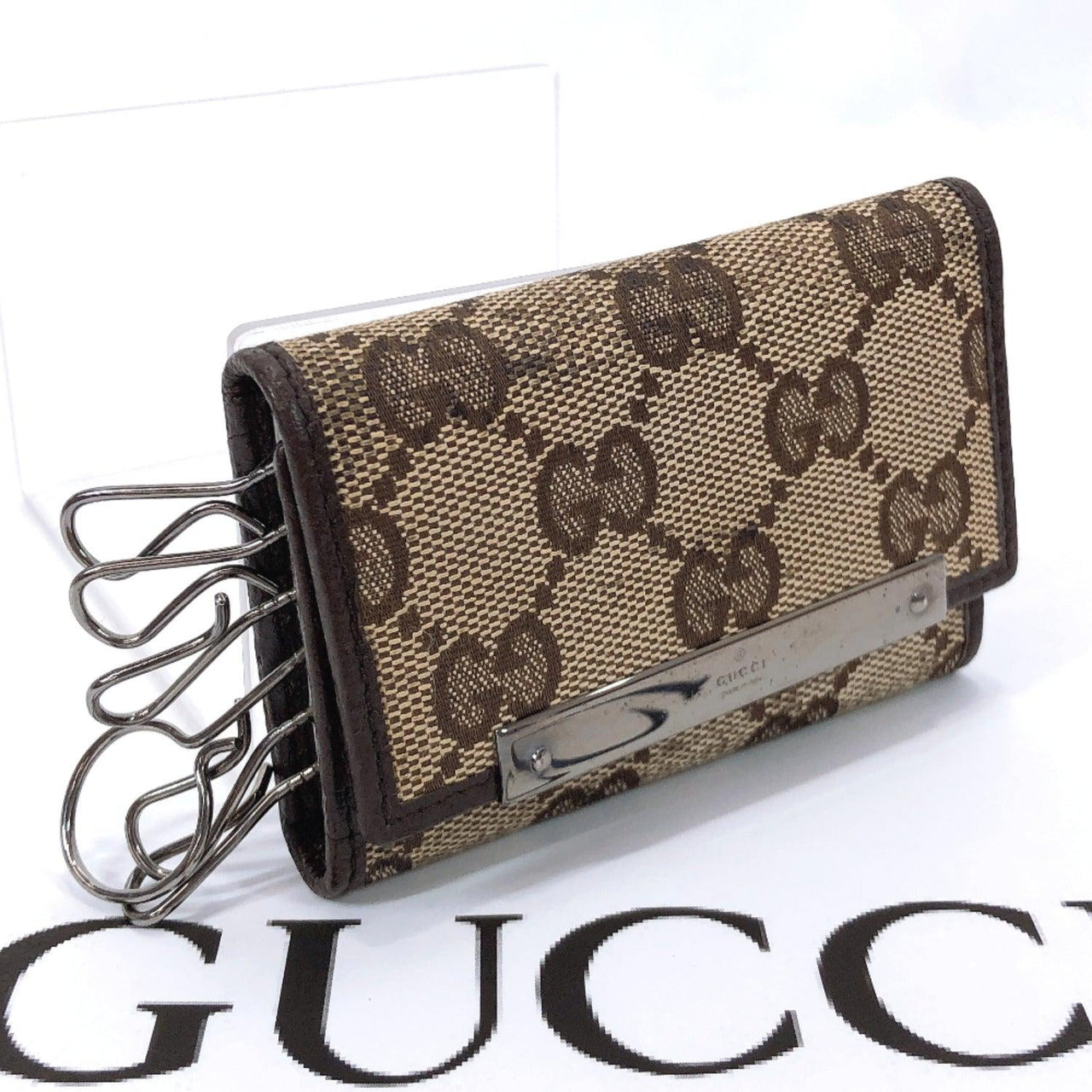 GUCCI key holder six hooks GG canvas Brown unisex Used