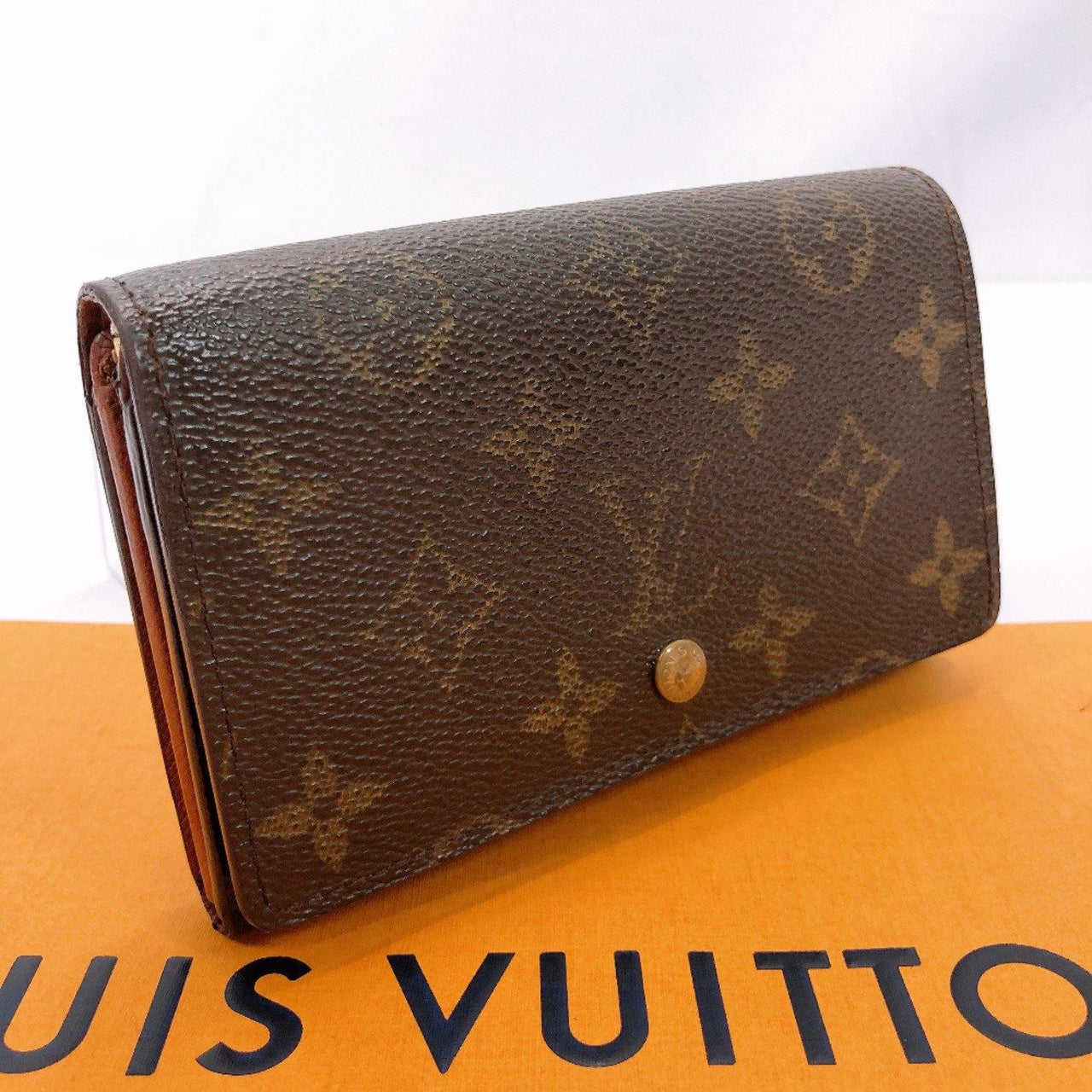 LOUIS VUITTON wallet M61730 Portonet Bie Tresol Monogram canvas Brown unisex Used - JP-BRANDS.com