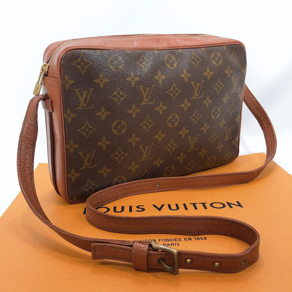 LOUIS VUITTON Shoulder Bag M51364 Sac Bandriere vintage Monogram canvas Brown unisex Used
