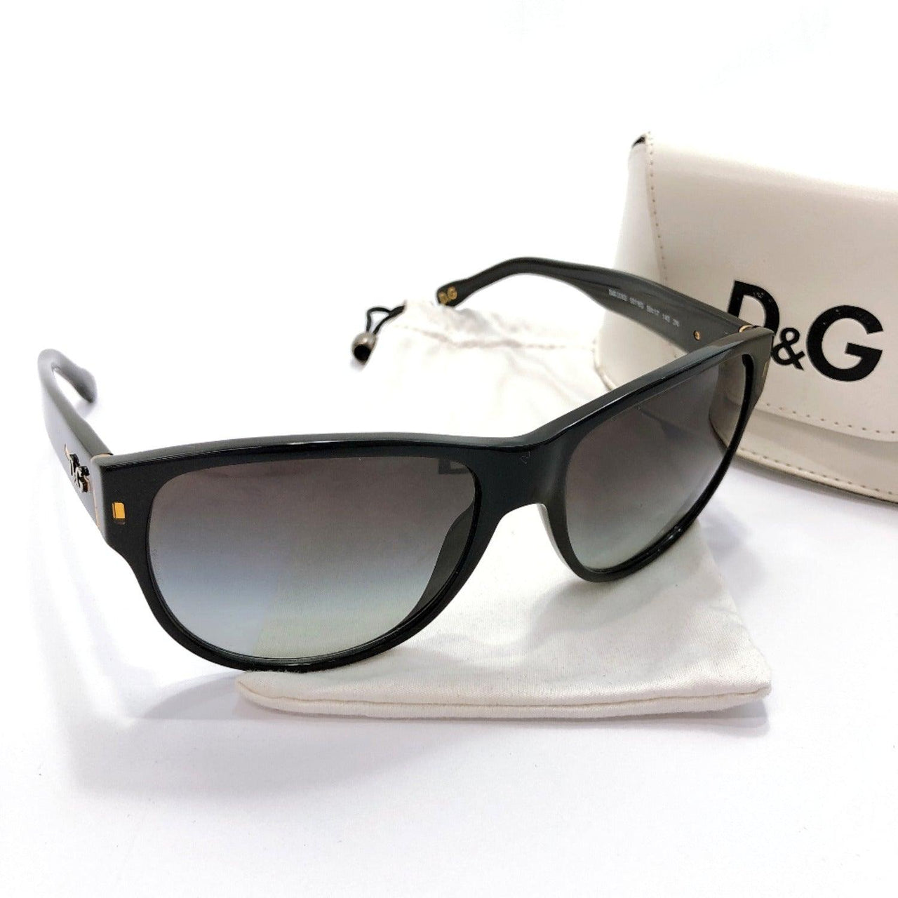 DOLCE&GABBANA sunglasses 3062 Synthetic resin black unisex Used