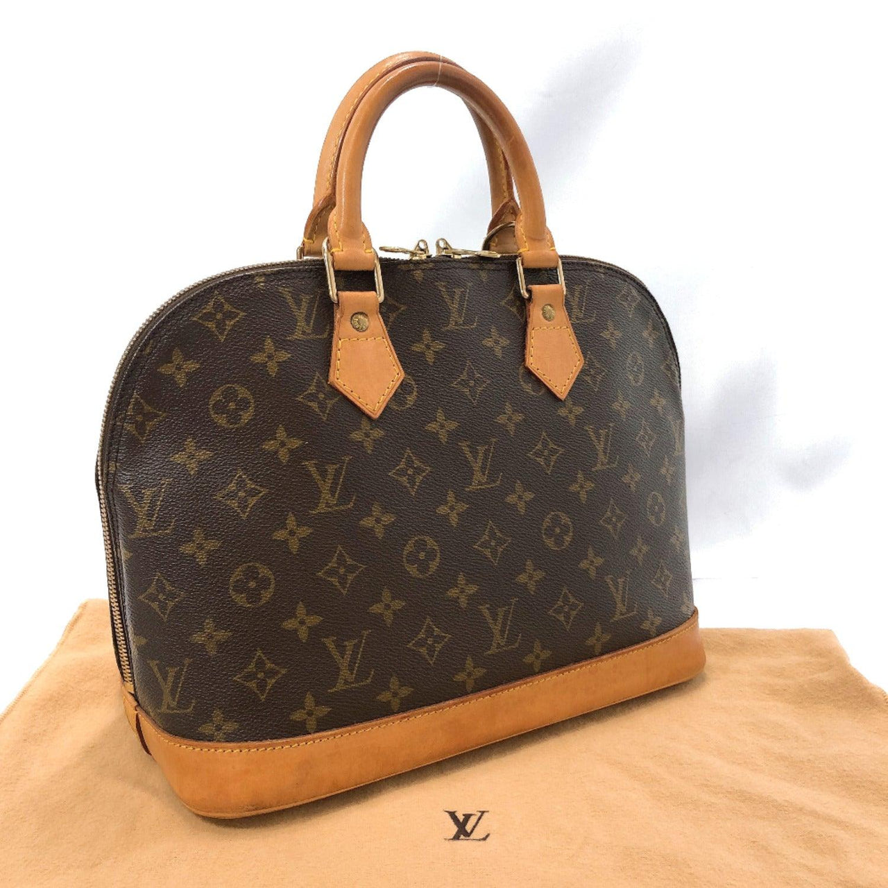 LOUIS VUITTON Handbag M51130 Alma PM Monogram canvas Brown Women Used