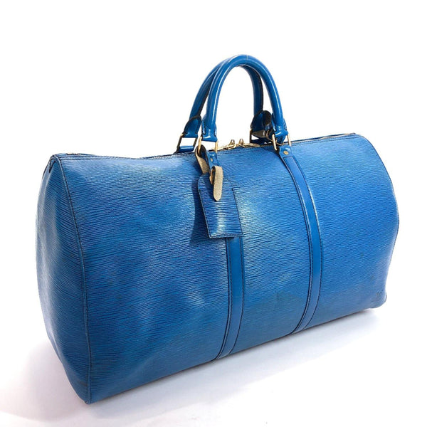 LOUIS VUITTON Boston bag M42965 Vintage Keepall50 Epi Leather blue unisex Used