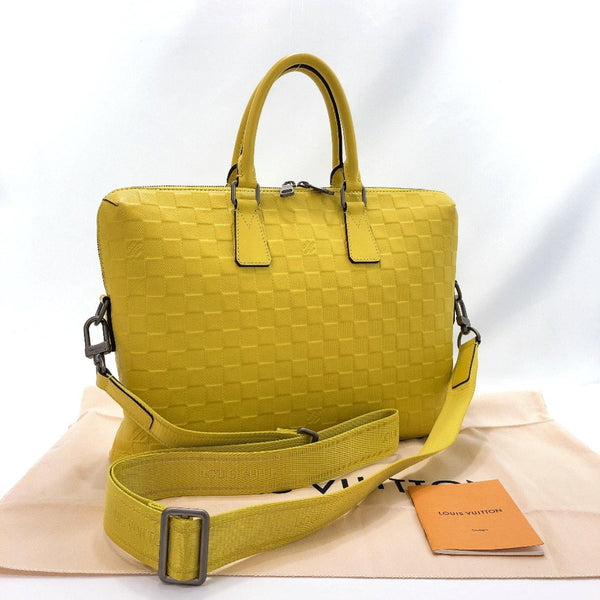 LOUIS VUITTON Business bag N41391 Porte Documan Jules/Damier Anfini yellow unisex Used