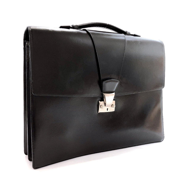 CARTIER Briefcase leather black mens Used