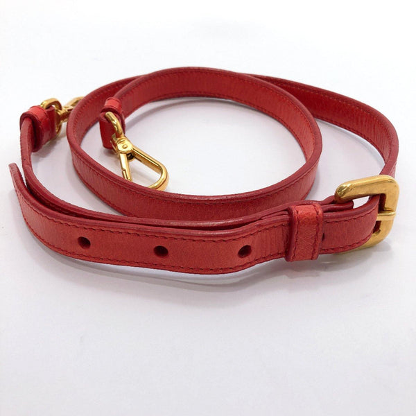 PRADA Shoulder strap leather Red Women Used