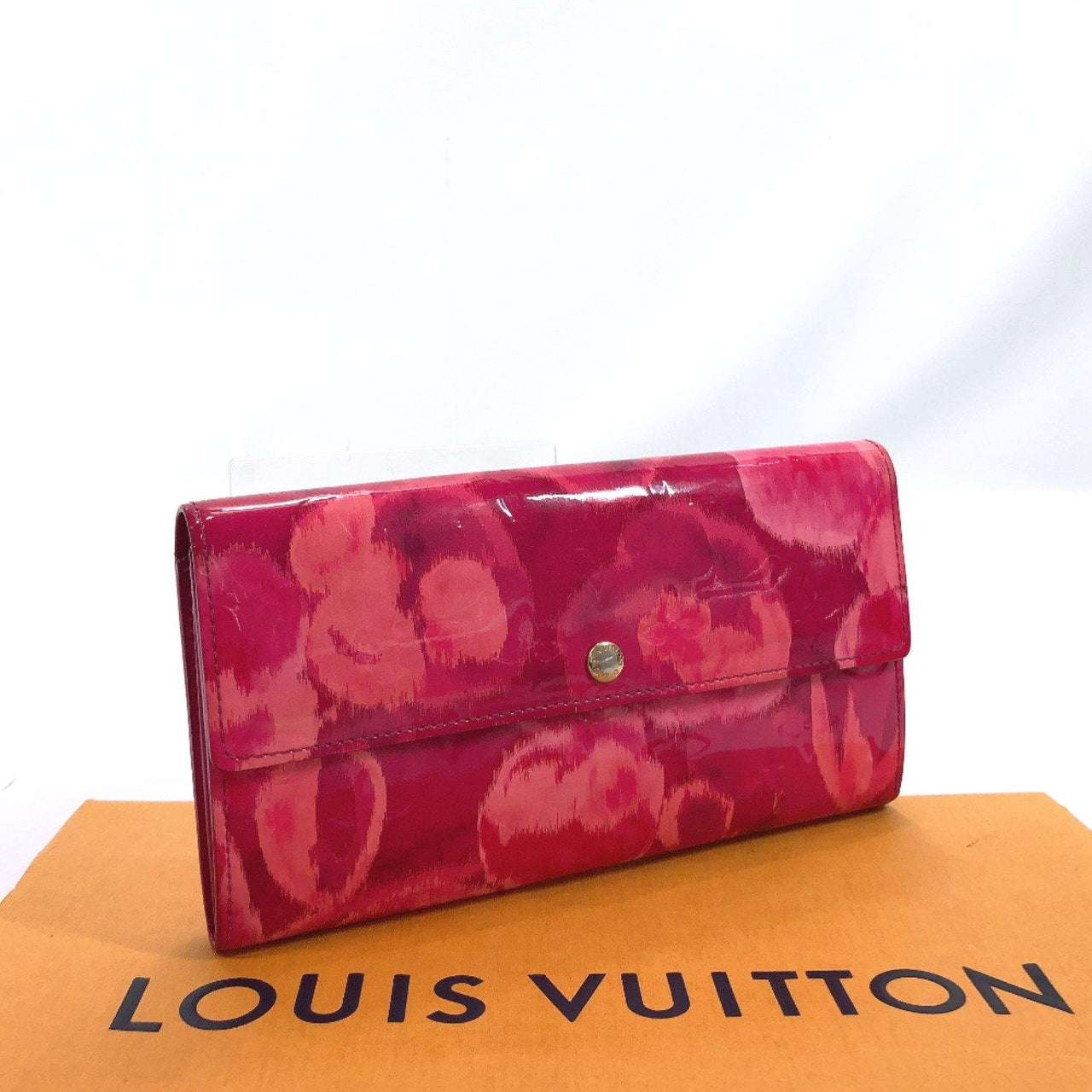 LOUIS VUITTON purse M90022 Portefeiulle Sarah Ikat flower Vernis/Archipel pink Rose Andian Women Used