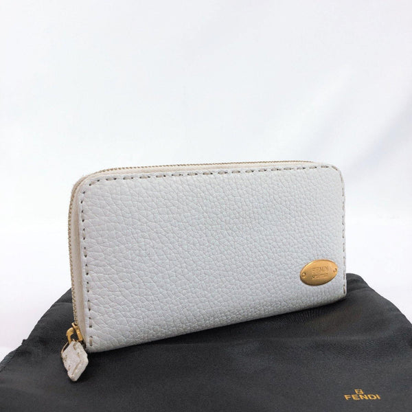 FENDI purse 8M0299 Celeria Zip Around leather white Women Used