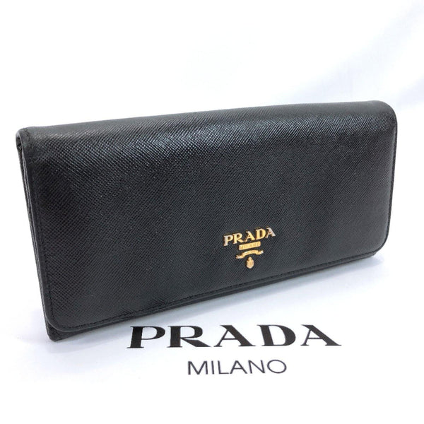 PRADA purse 1M1132 Safiano leather black Women Used