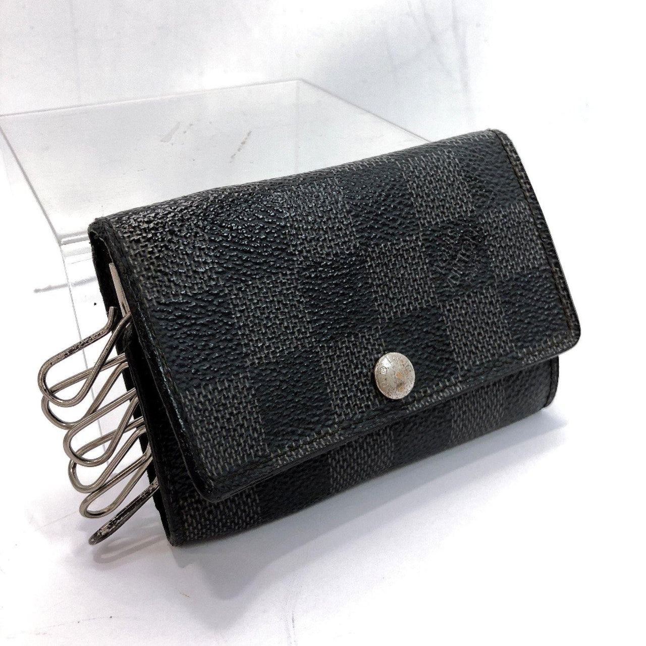 LOUIS VUITTON key holder M62662 Multicles6 Damier Grafitto Canvas black mens Used