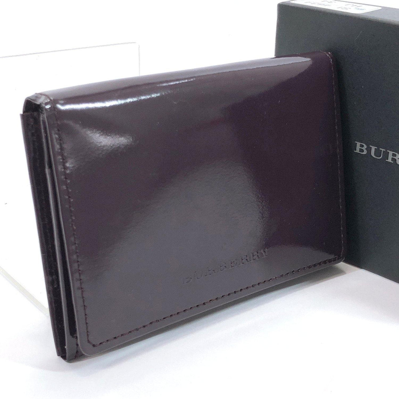 BURBERRY Card Case name card holder Patent leather purple unisex Used - JP-BRANDS.com