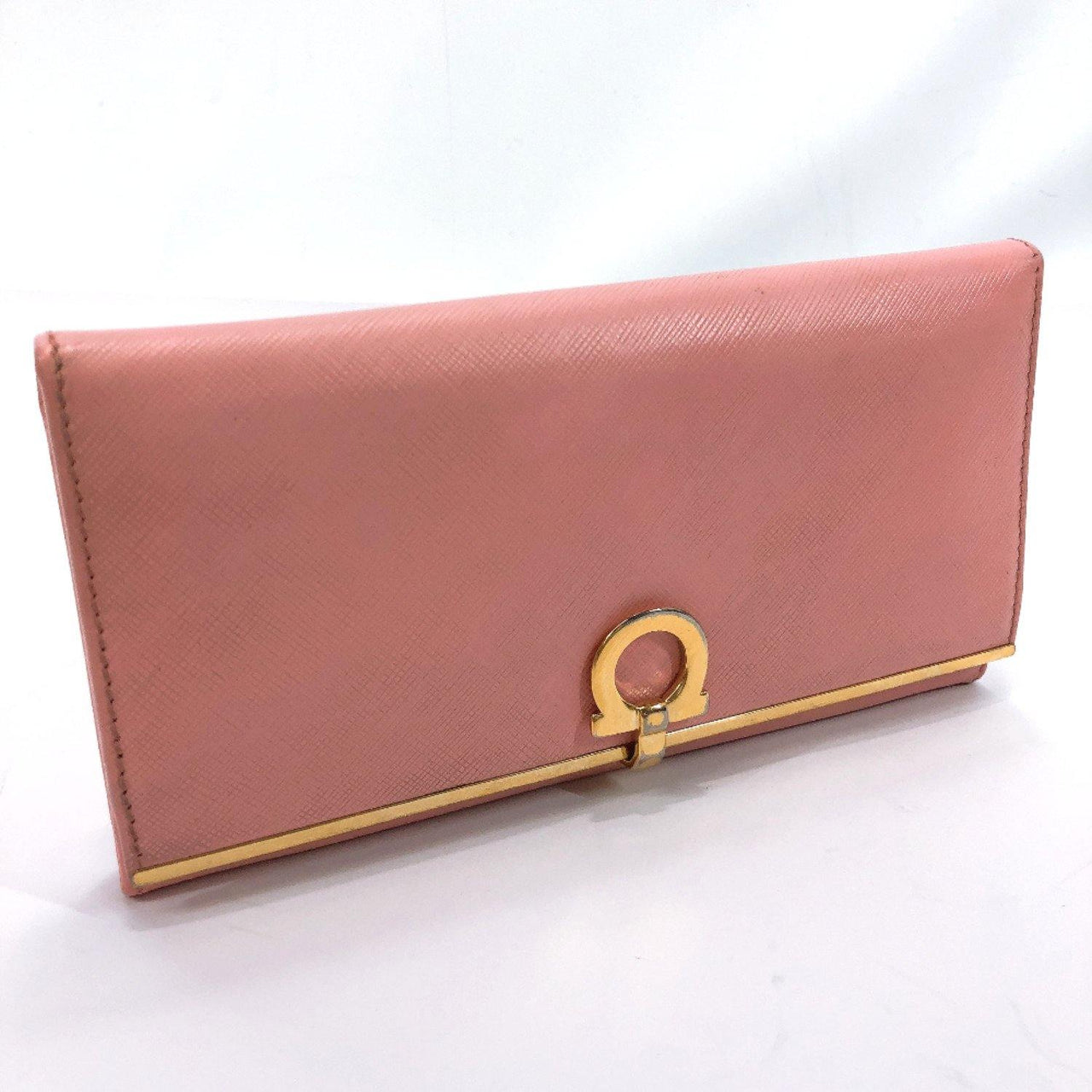 Salvatore Ferragamo purse Gancini leather pink gold Women Used - JP-BRANDS.com