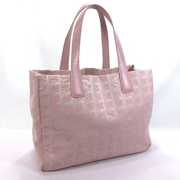 CHANEL Tote Bag New Travel Line MM Nylon pink Women Used - JP-BRANDS.com