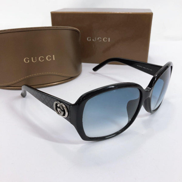 GUCCI sunglasses GG3178/K/S Interlocking G Synthetic resin black Women Used
