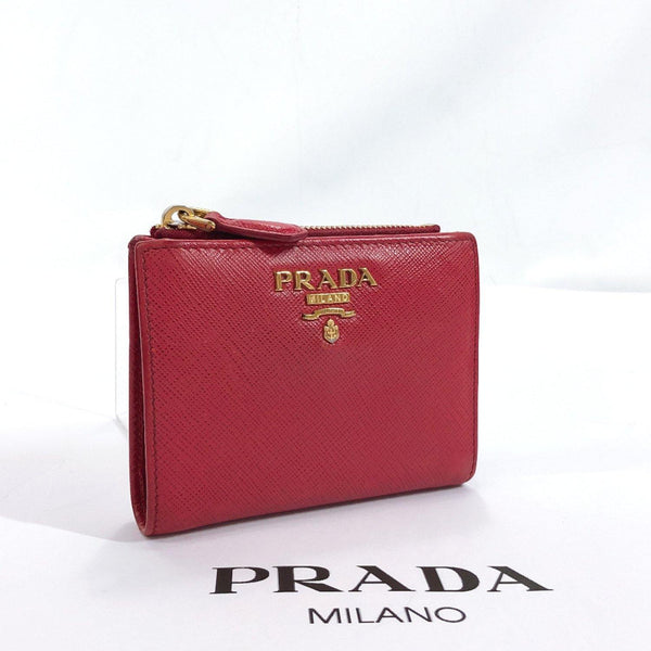 PRADA wallet Safiano leather Red gold Used